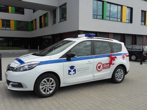 Pojazd dla Banku Krwi