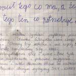 List chłopca chorego na raka