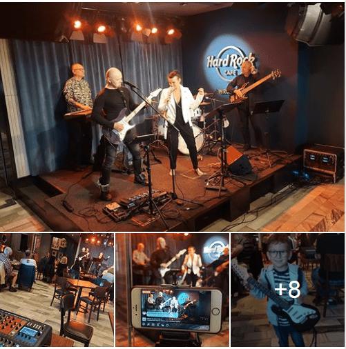 Hard Rock Cafe koncert Agnes Band